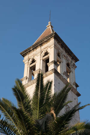Bell Tower of the Church of Our Lady in Trogir, Dalmatia, Croatia 版權商用圖片