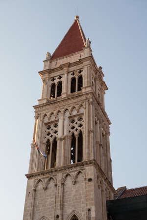 Bell tower of the Cathedral of St. Lawrence in Trogir, Dalmatia, Croatia