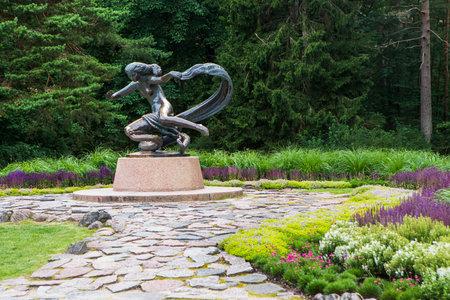 Palanga, Lithuania - July 11, 2020: Sculpture