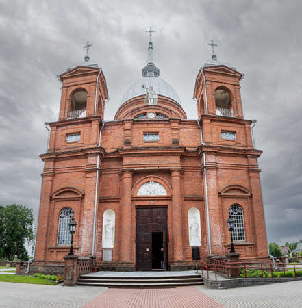 Church of the Ascension of Christ in Utena, Lithuania. Built 1884 in historicist architectural style. Reklamní fotografie