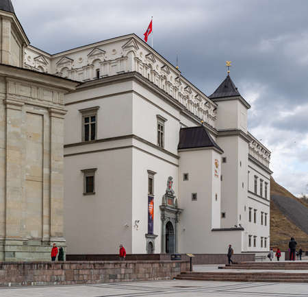 Vilnius, Lithuania - March 14, 2021: Royal Palace of Lithuania in Cathedral Square in Vilnius, Lithuania. Redakční