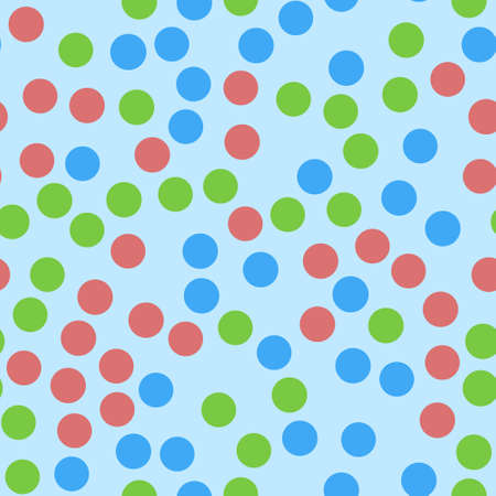Polka Dots Seamless Texture. seamless pattern with color circles. Illustration