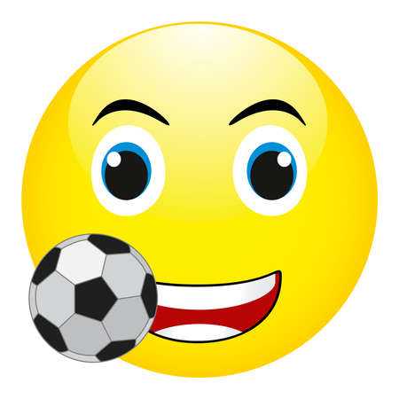Cute Soccer Ball Cartoon Mascot Character Giving A Thumb Up. Vector Isolated On White Background