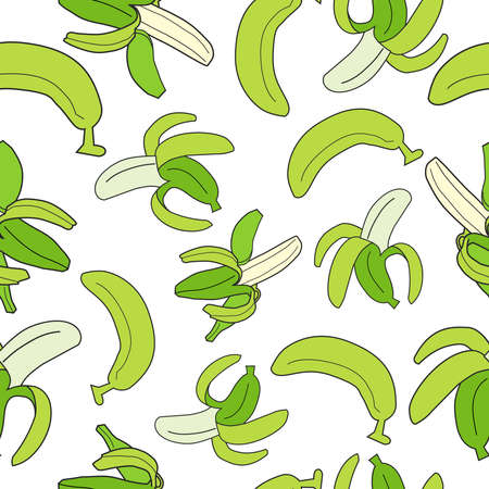 vector seamless pattern with bananas