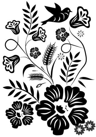 Abstract flower graphic design.
