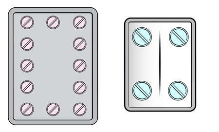 A typical birth control pill bubble package