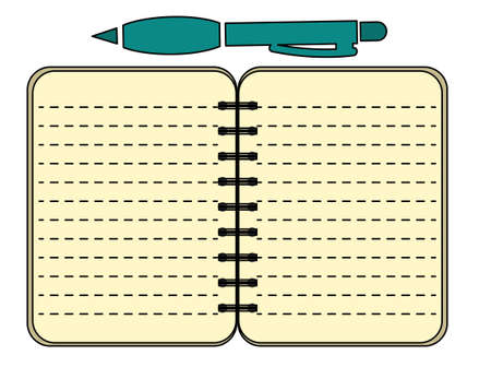 Contract Document with Pen Business vector Icon Illustration eps 10