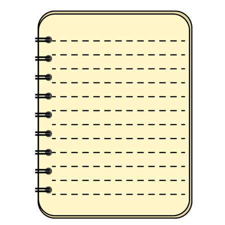 Blank spiral notepad notebook isolated on gray background. EPS 10