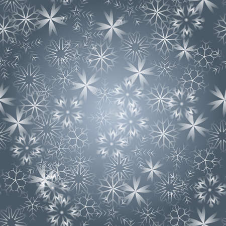 Bright snowflakes on a black background. Red highlights, seamless texture eps 10