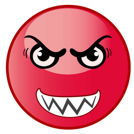 Angry emoticon, emoji, smiley - vector illustration eps 10 Ilustrace