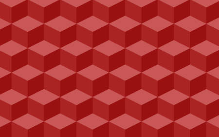 Bulk texture of red squares in isometric. Vector illustration, eps 10