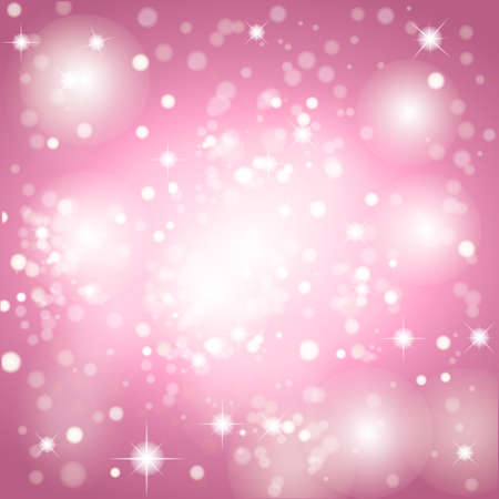 Pink abstract romantic background with stars. EPS10 vector file included