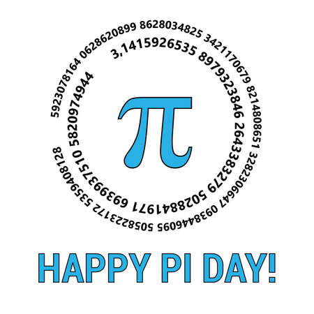 Happy Pi Day Celebrate Pi Day. Mathematical constant. March 14th. Ratio of a circle s circumference to its diameter. Constant number Pi. Vector illustration Фото со стока - 126263578