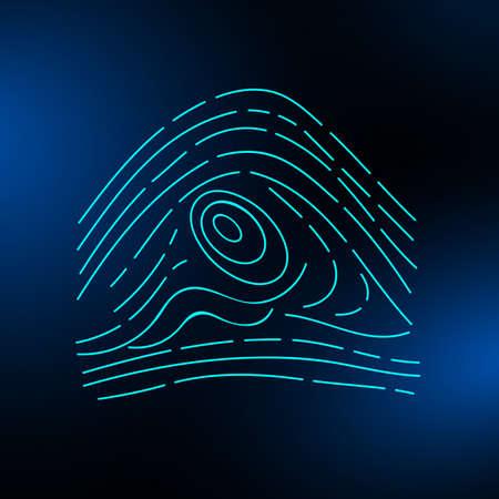 Fingerprint on a blurred background. Vector illustration eps 10