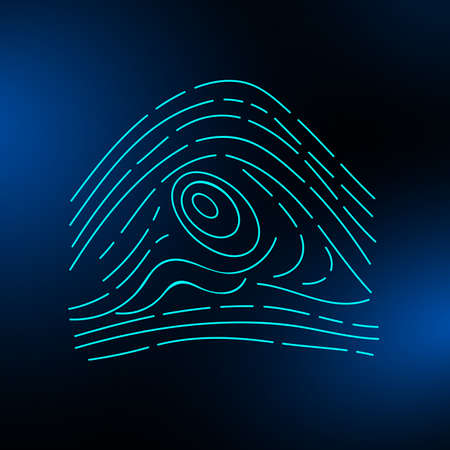 Fingerprint on a blurred background. Vector illustration eps 10 Фото со стока - 125951849