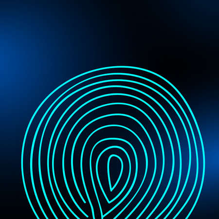 Fingerprint on a blurred background. Vector illustration eps 10 Фото со стока - 125951851