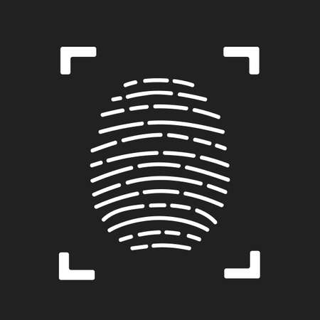 Fingerprint scanning icon for apps with security unlock stock vector Иллюстрация