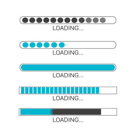 loading bar progress icons, load sign vector illustration eps 10