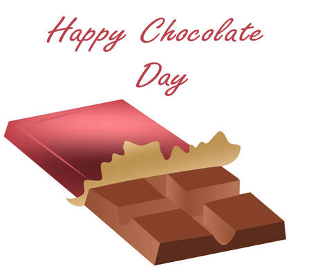 Chocolate Day July 11th. holiday vector postcard, eps 10