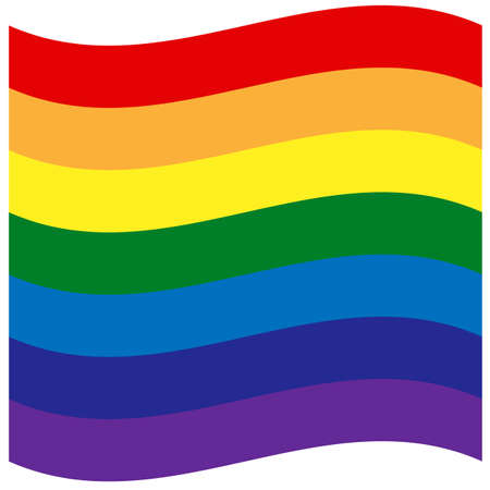 Rainbow flag, The most widely known worldwide is the pride flag representing LGBT pride. lesbian, gay, bisexual, and transgender Vectores