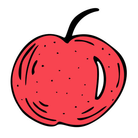 Bright and juicy apple illustration, on a white background. Vectores