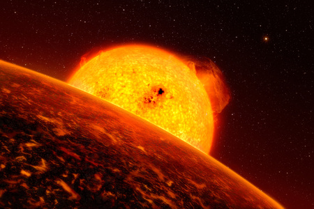 radiacion solar: Sol rojo