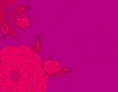Background with rose design. Illustration