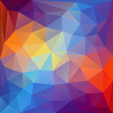 Colorful abstract polygonal background. Ilustrace