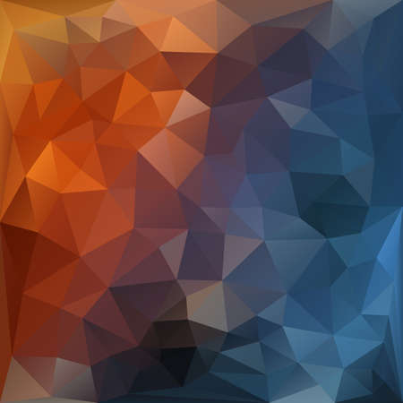 Orange and blue abstract polygonal background.