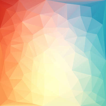 Rainbow abstract polygonal background.