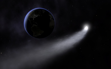 comet approach the earth photo