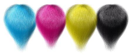 fleecy: CMYK hair tufts