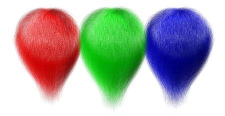 rgb: RGB hair tufts