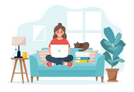 cute illustration in flat style