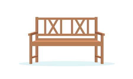 Park bench illustration in flat style