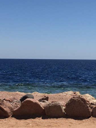 Hurghada beach and ocean