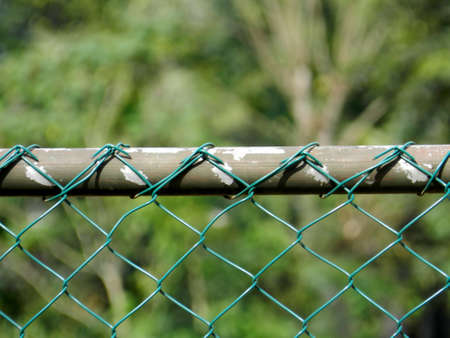 chainlink fence: Chainlink fence Stock Photo