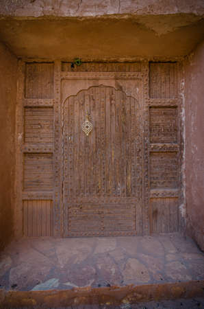 casbah: Small building on top of mountain in casbah of Ouarzazate, Morocco, Africa Stock Photo