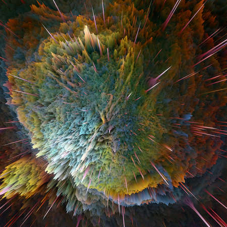detonation: The colorful galaxy clouds and big bang abstract star texture Stock Photo