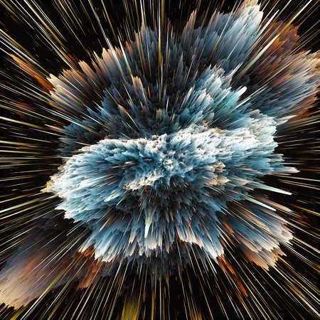 the big bang: The colorful galaxy clouds and big bang abstract star texture Stock Photo