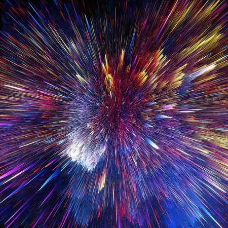 De kleurrijke galaxy wolken en big bang abstract ster textuur