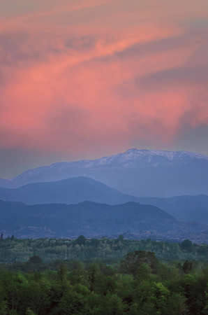 Beautiful sun spots in Caucasus mountains Reklamní fotografie