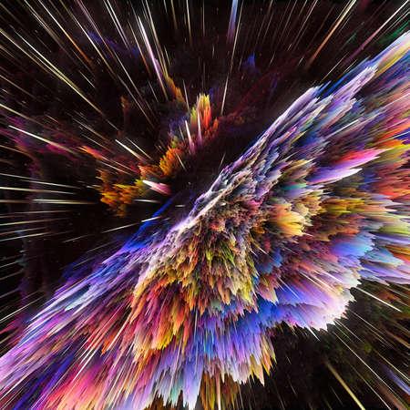 Colorful galaxy clouds and big bang abstract star texture Stock Photo