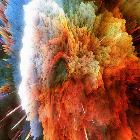 ray of light: The colorful galaxy clouds and big bang abstract star texture Stock Photo