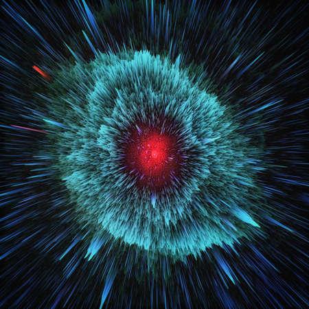 Fondo cosmico astratto della galassia variopinta. Splendido universo fantasy. Cosmo profondo. Stella che esplode nello spazio. Esplorazione dell'infinito. illustrazione 3D Archivio Fotografico