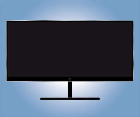 flat screen: TV flat screen lcd, plasma realistic vector illustration.