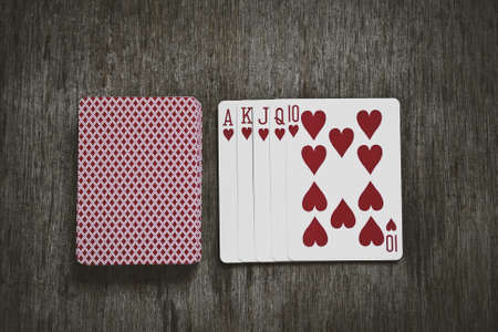 royal flush: Royal flush hand ranking in texas poker abstract