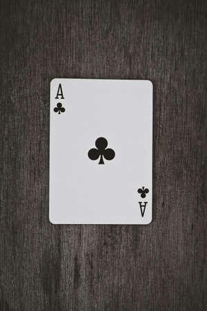 ace of clubs: Playing cards ace of clubs close up