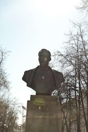 arrests: MINSK, BELARUS - March 23, 2017. Monument to Felix Derzhinsky in Minsk. Founder of the power structure of the KGB