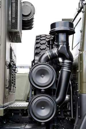Air intake detail in a Russian military vehicle